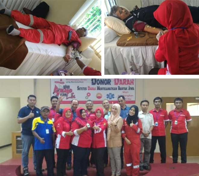 Foto-foto kegiatan donor danah Petrochina International Jabung Ltd. di Geragai Camp dan Betara Gas Plant
