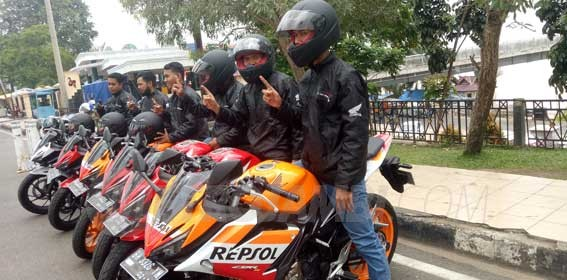 Para peserta fun city riding challenge Honda